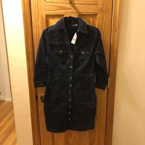 Ny&Co Denim Shirt Dress-dark wash